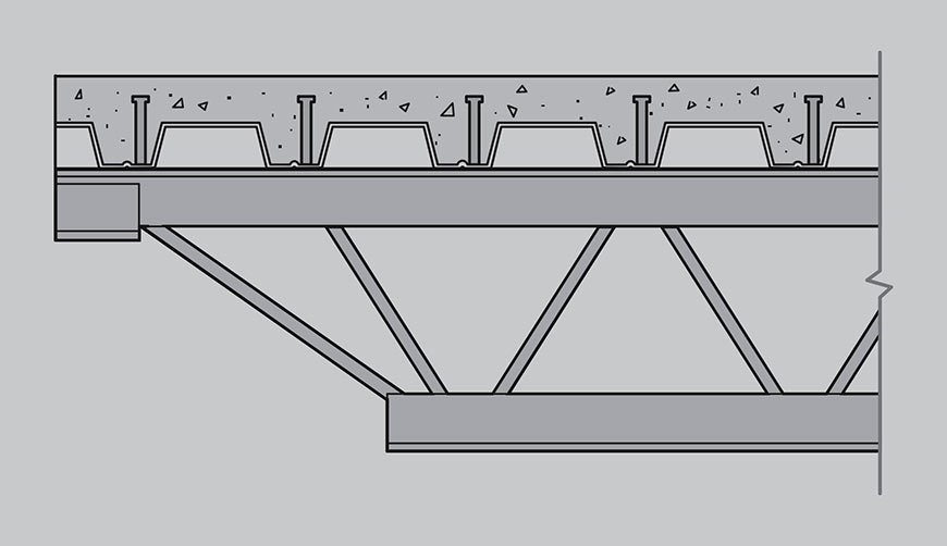 Drawing of Composite Joists